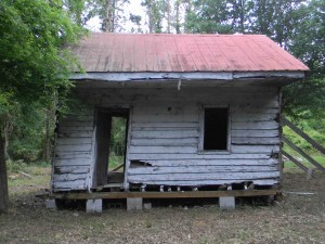 Point of Pines Slave Cabin Prior to the Dismantling Process
